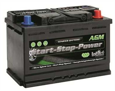 intAct Start-Stop Power AGM 12V-70Ah