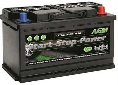 intAct Start-Stop Power AGM 12V-80Ah