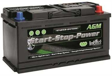 intAct Start-Stop Power AGM 12V-90Ah
